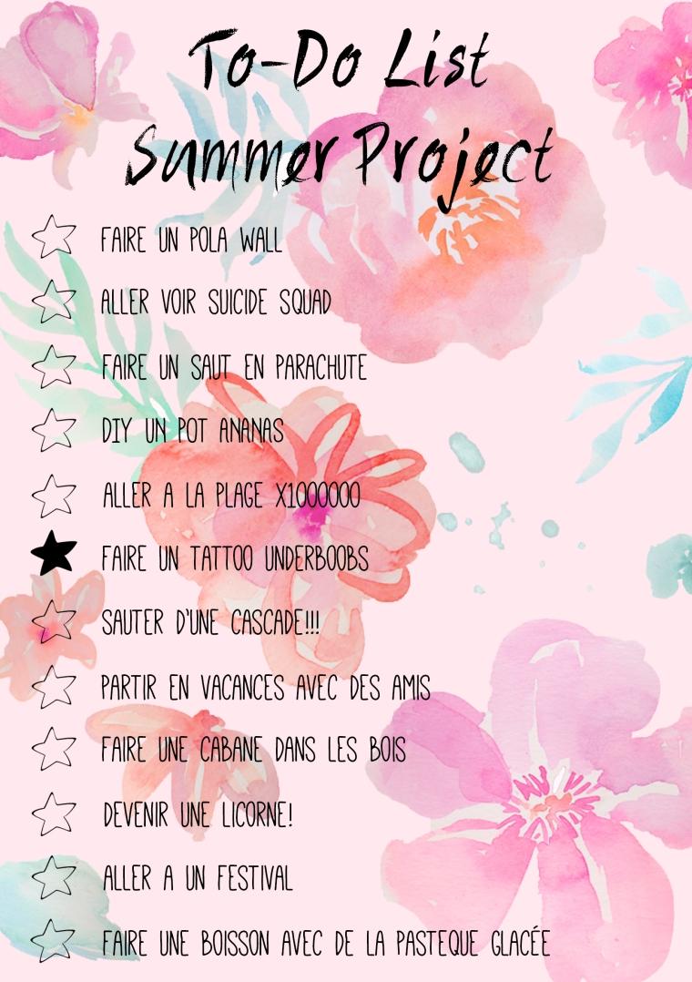 Wishlist summer